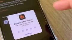 Pozitív értékelés nélkül nem lehetett megnyitni egy iOS applikációt kép
