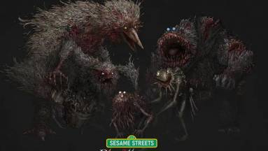 A Bloodborne és a Szezám utca keveréke egyszerre hátborzongató és csodálatos kép