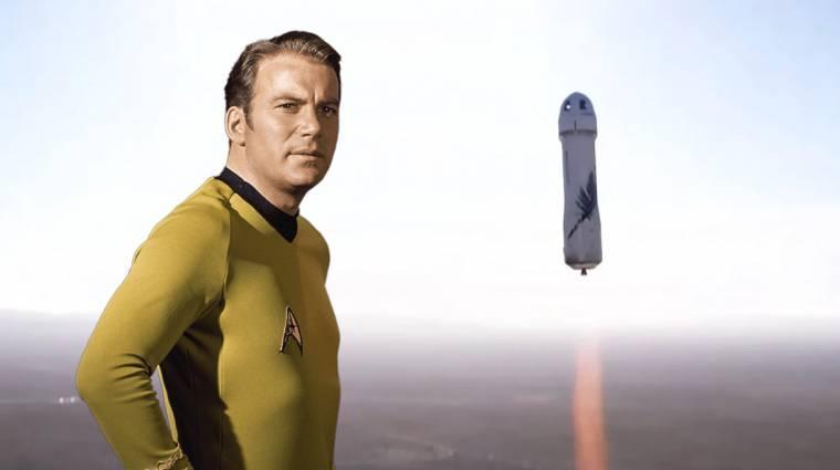 A Star Trek Kirk kapitányát is az űrbe repítette Jeff Bezos kép