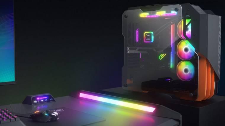 LED-ekkel támad a Cougar gaming-asztala kép
