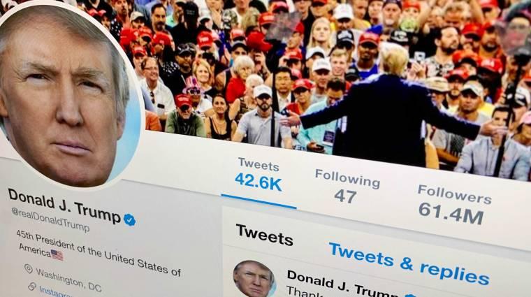 Nagyon úgy néz ki, hogy ez Donald Trump saját Twittere kép