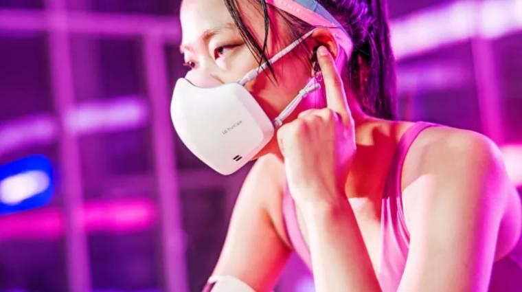 Mikrofon és hangszóró is lesz az LG okosmaszkjában kép