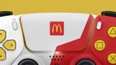 Hamburgerrel és sült krumplival díszített PlayStation 5 kontrollert készített a McDonald's kép