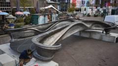 3D-nyomtatott acélhidat avattak Amszterdamban kép