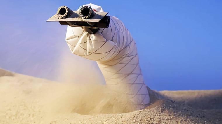 Aranyos és ijesztő a homokban mozgó felfedezőrobot kép
