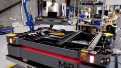 A belső logisztika fejlesztése autonóm mobil robotok nagy flottáival kép