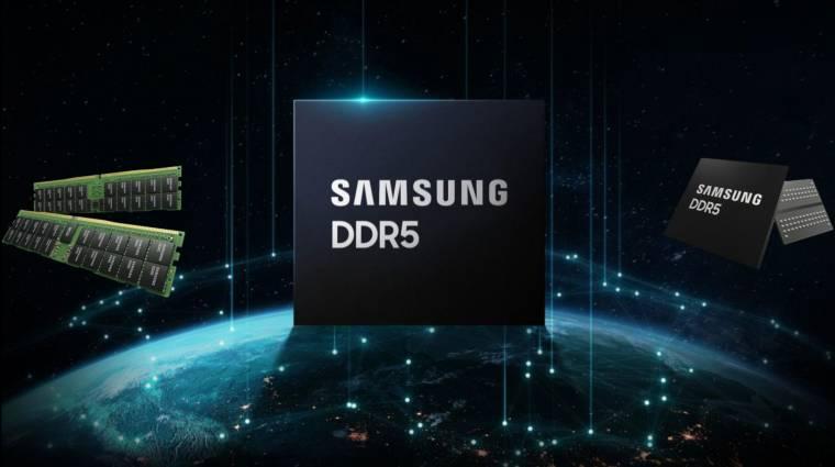 Szupergyors, 512 GB-os DDR5 memóriával állt elő a Samsung kép