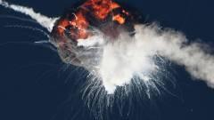 Felrobbantott az amerikai űrhaderő egy műholdakat szállító rakétát kép