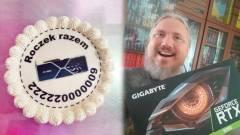 Ünnepi tortát küldött egy férfi a boltnak, ahonnan egy éve rendelt egy videokártyát, de még nem kapta meg kép