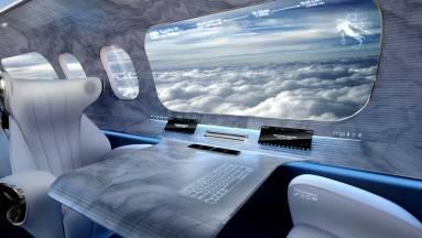 Ablakok helyett kijelzők – ilyen lenne a jövő repülőgépe? kép