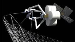 Óriás robotpókok építhetik az űrhajókat a Föld körüli pályán kép