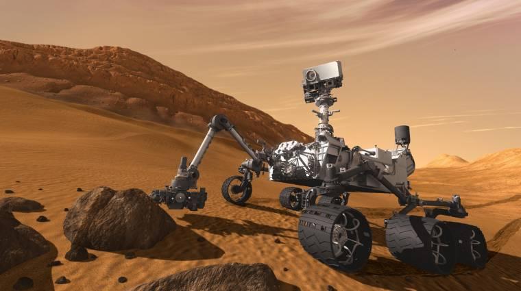 Vizet talált a Marson a Curiosity kép
