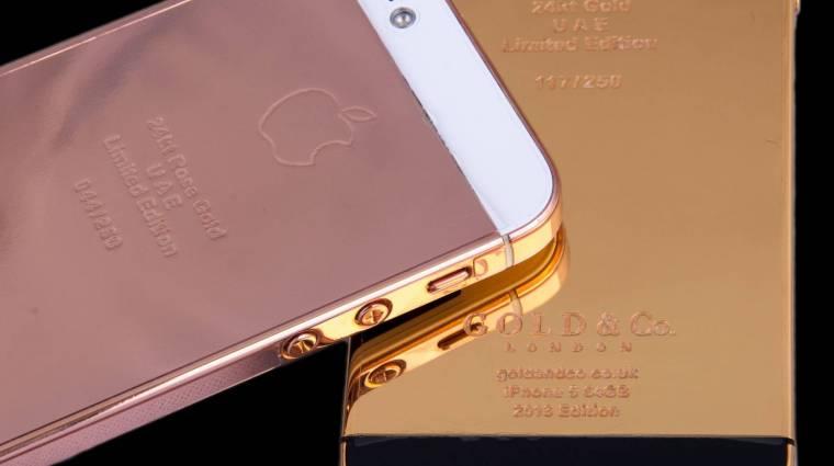 iPhone 5S valódi, 24 karátos aranyban kép