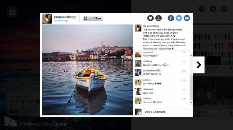 Hogyan Instagramozzunk Windows 8 alól? kép