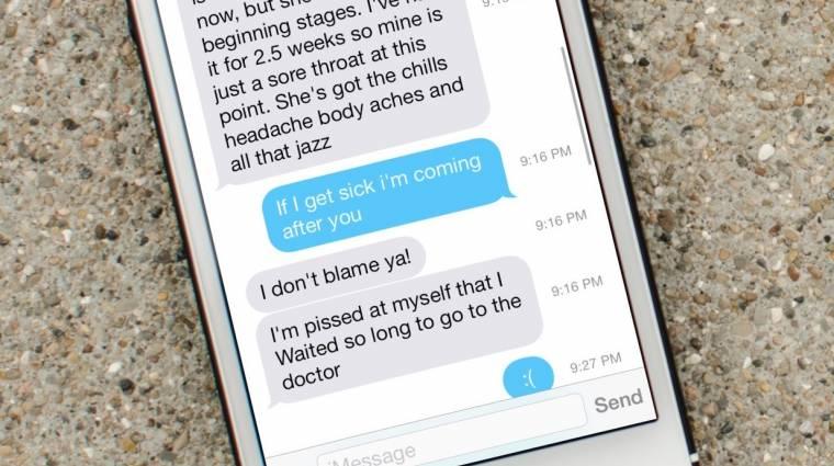 Rossz az iMessage az iOS 7-ben kép
