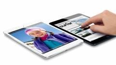 Az iPad mini érintőkijelzője a leggyorsabb kép