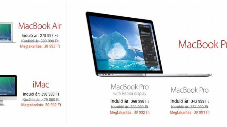 Leárazások a magyar Apple Store-ban kép