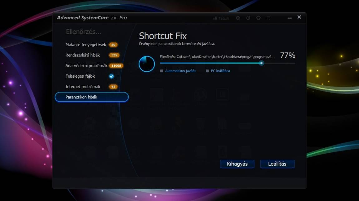 IOBit Advanced SystemCare 7 Pro - nem új seprű, de jól seper kép