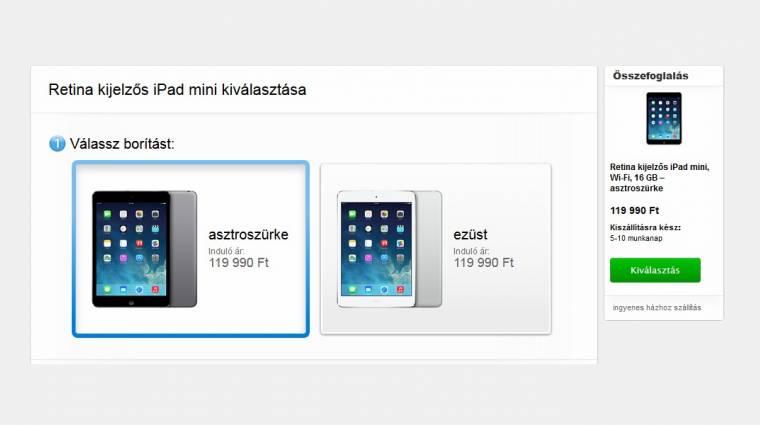 Itthon is kapható a retinás iPad Mini kép