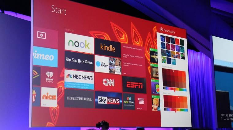 Egyre népszerűbb a Windows 8.1 kép