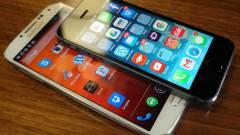 Az iPhone 5S legyőzte a Galaxy S4-et kép