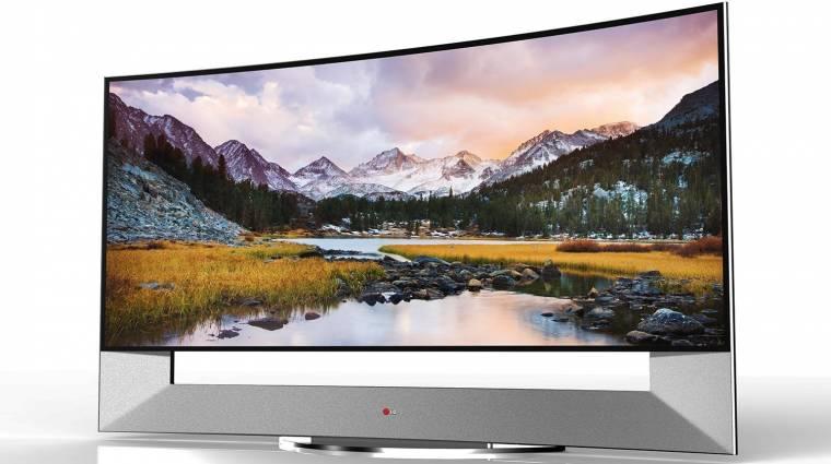 Elképesztően nagy hajlított tévék az LG-től és a Samsungtól kép