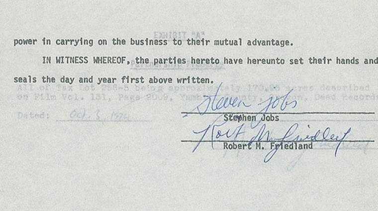 40 000 dollárt adtak Steve Jobs aláírásáért kép