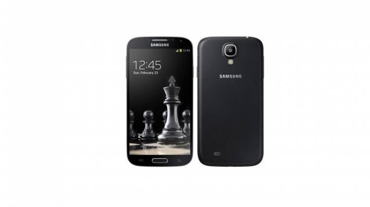 Bőr hátlapot kap a Galaxy S4 kép