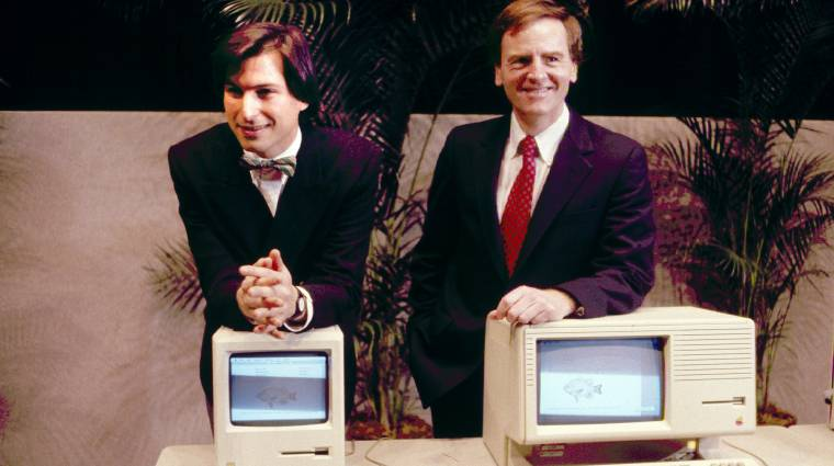 Ritkaság: Steve Jobs bemutatja a Macintosh-t kép