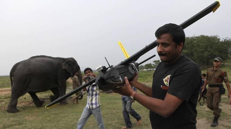 Drónok vigyázták a veszélyeztetett állatokat Afrikában kép