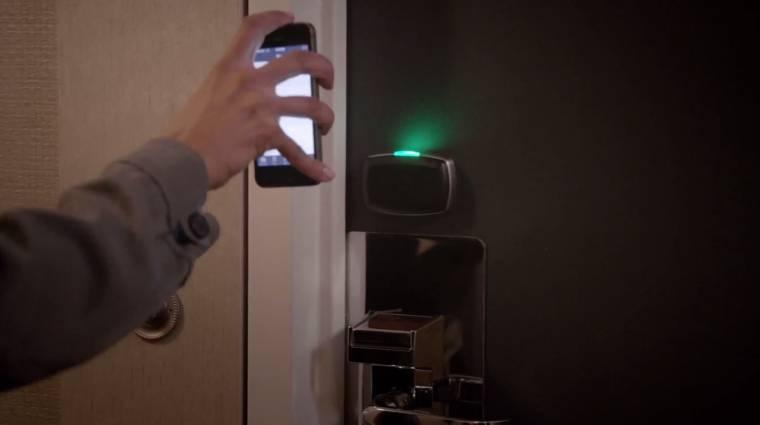 iPhone nyitja a hotelszobát Amerikában kép