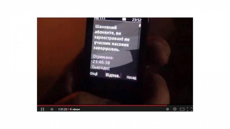 Már SMS-ben is terrorizálnák az ukrán tüntetőket kép