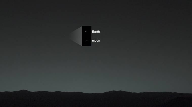 Szívbemarkoló képet készített a Földről a Curiosity kép