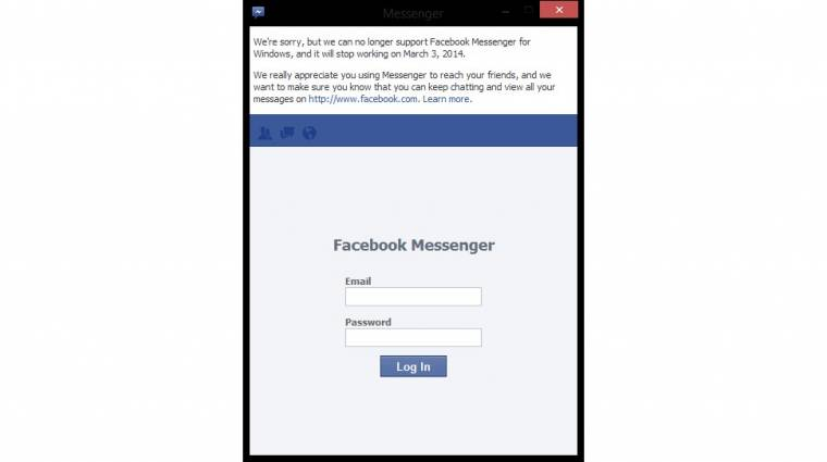 Búcsúzik a windowsos Facebook Messenger kép