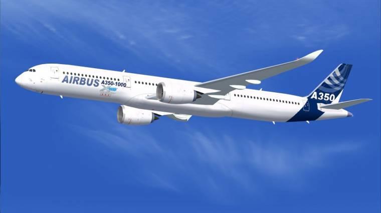 Képek az Airbus A350 XWB gyomrából kép
