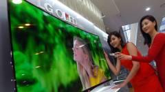 Féláron az LG hajlított OLED tévéje kép