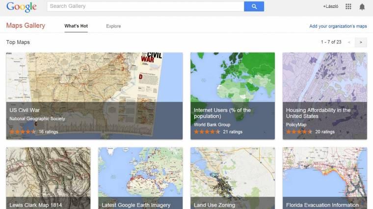 Digitális térképekkel újított a Google Maps kép