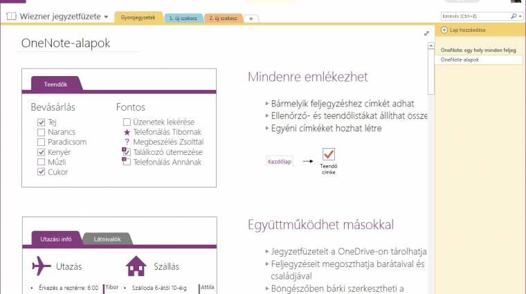 Ingyenes verzió érkezett Microsoft OneNote 2013-ból kép