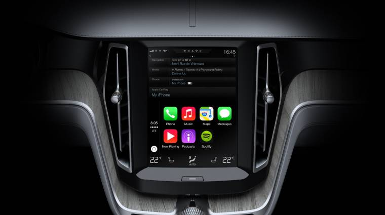 Így néz ki az Apple CarPlay a Volvo autóiban kép
