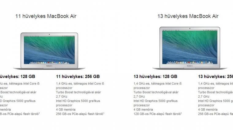 Csökkent a MacBook Air laptopok ára kép
