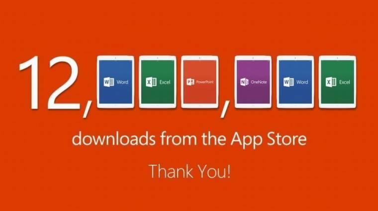 12 millióan töltötték le az Office-t iPadre kép