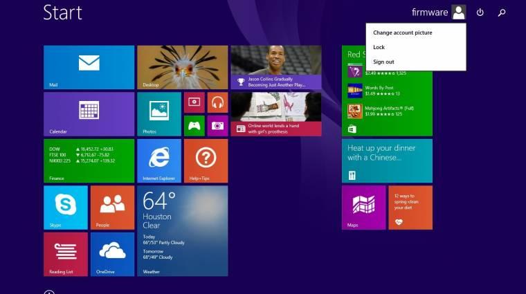 Kedden jön a Windows 8.1 ingyenes frissítése kép