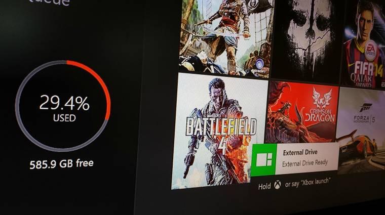 Végre külső tárhelyet is kezelhet az Xbox One kép