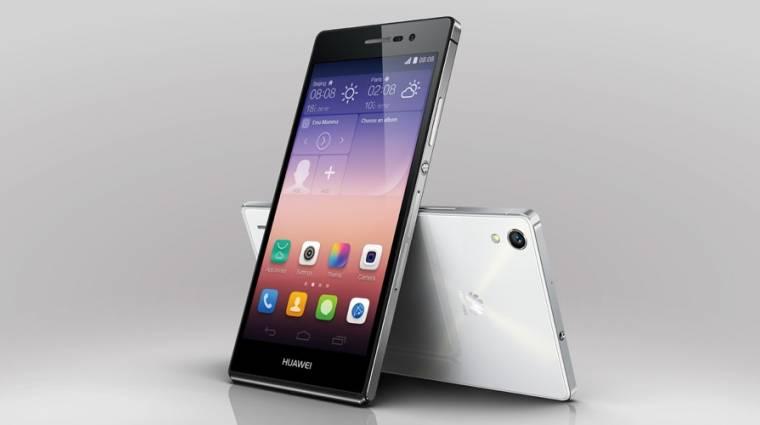 Elegáns prémium mobil a Huawei Ascend P7 kép