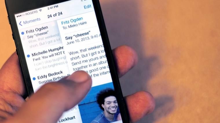 Nem biztonságos az iOS 7-ben levelezni kép