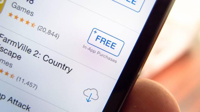 A freemium appok miatt büntetnék az Apple-t kép