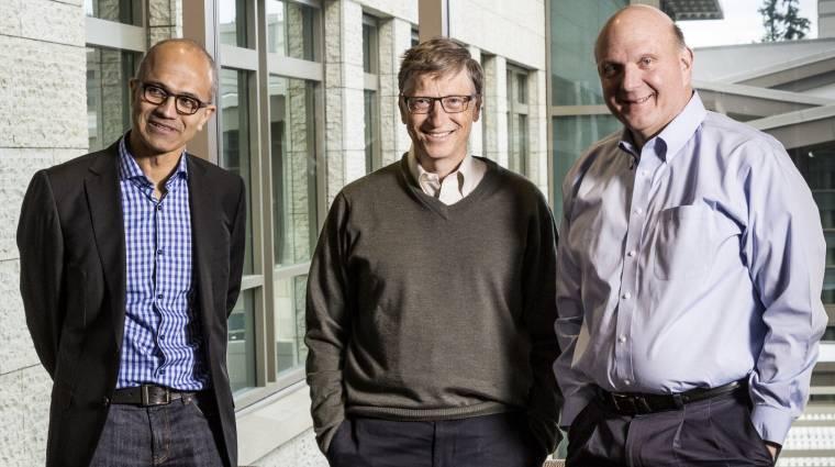 Kicsúszik Bill Gates alól a Microsoft kép