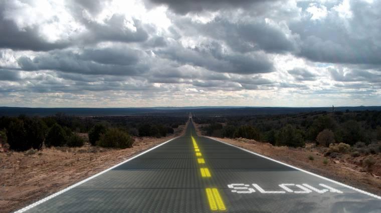 Napelemes főutat tervezett egy amerikai feltaláló kép