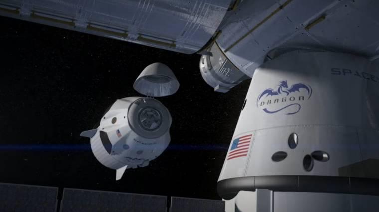 Heten utazhatnak a SpaceX új űrhajóján kép