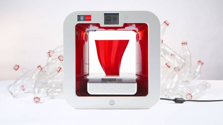 Műanyag flakonból nyomtat az Ekocycle 3D-s nyomtatója kép